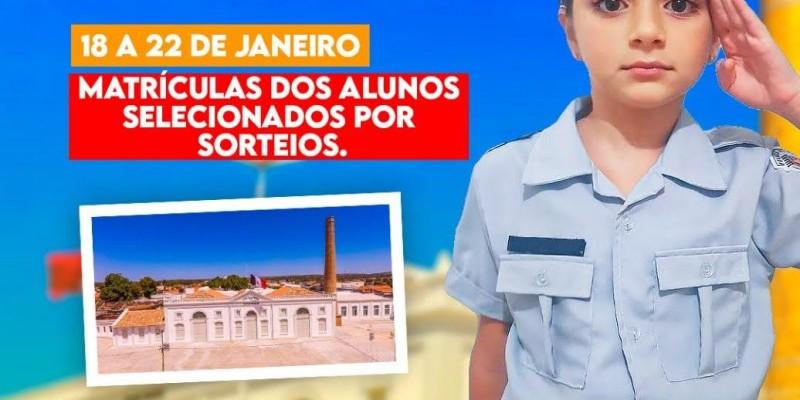 ESCOLA CÍVICO-MILITAR: MATRÍCULAS ABERTAS!