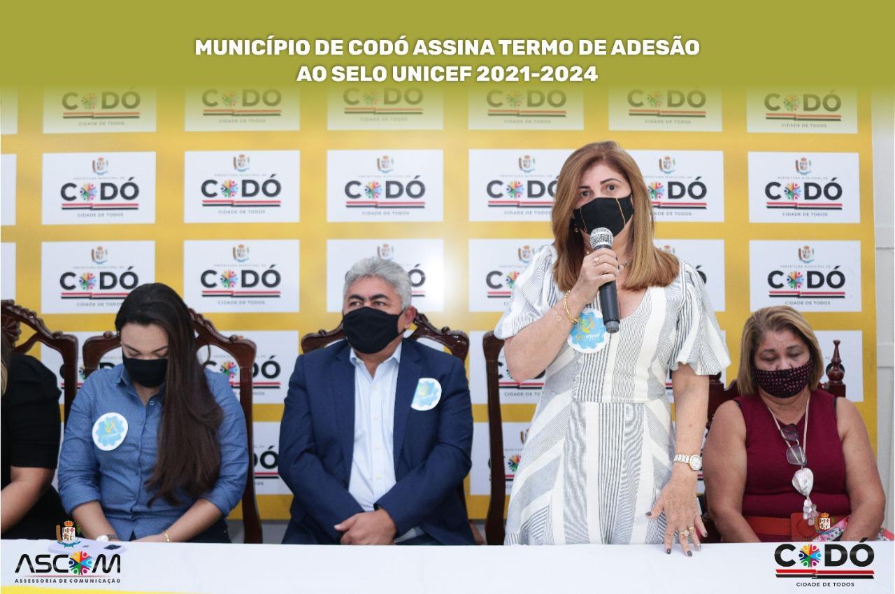 MUNICÍPIO DE CODÓ ASSINA TERMO DE ADESÃO AO SELO UNICEF 2021-2024