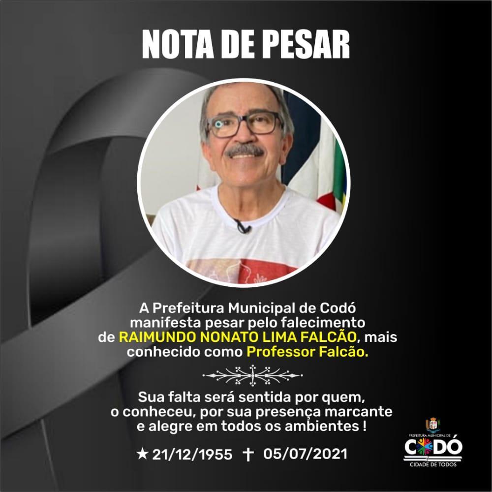 PREFEITO DR. ZÉ FRANCISCO LAMENTA MORTE DO PROFESSOR FALCÃO