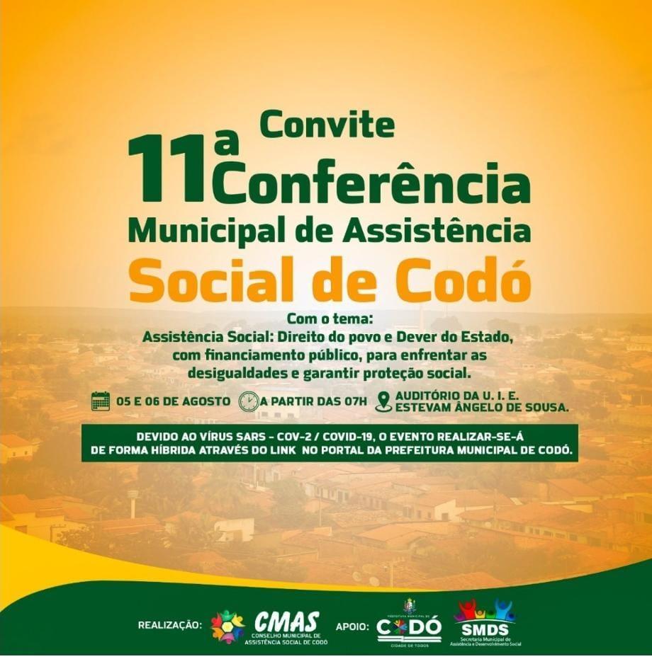 11ª Conferência de Assistência Social será realizada nesta quinta e sexta-feira