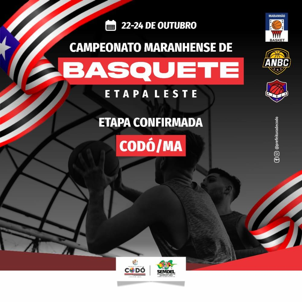 Codó sediará Campeonato Maranhense de Basquete etapa leste 2021