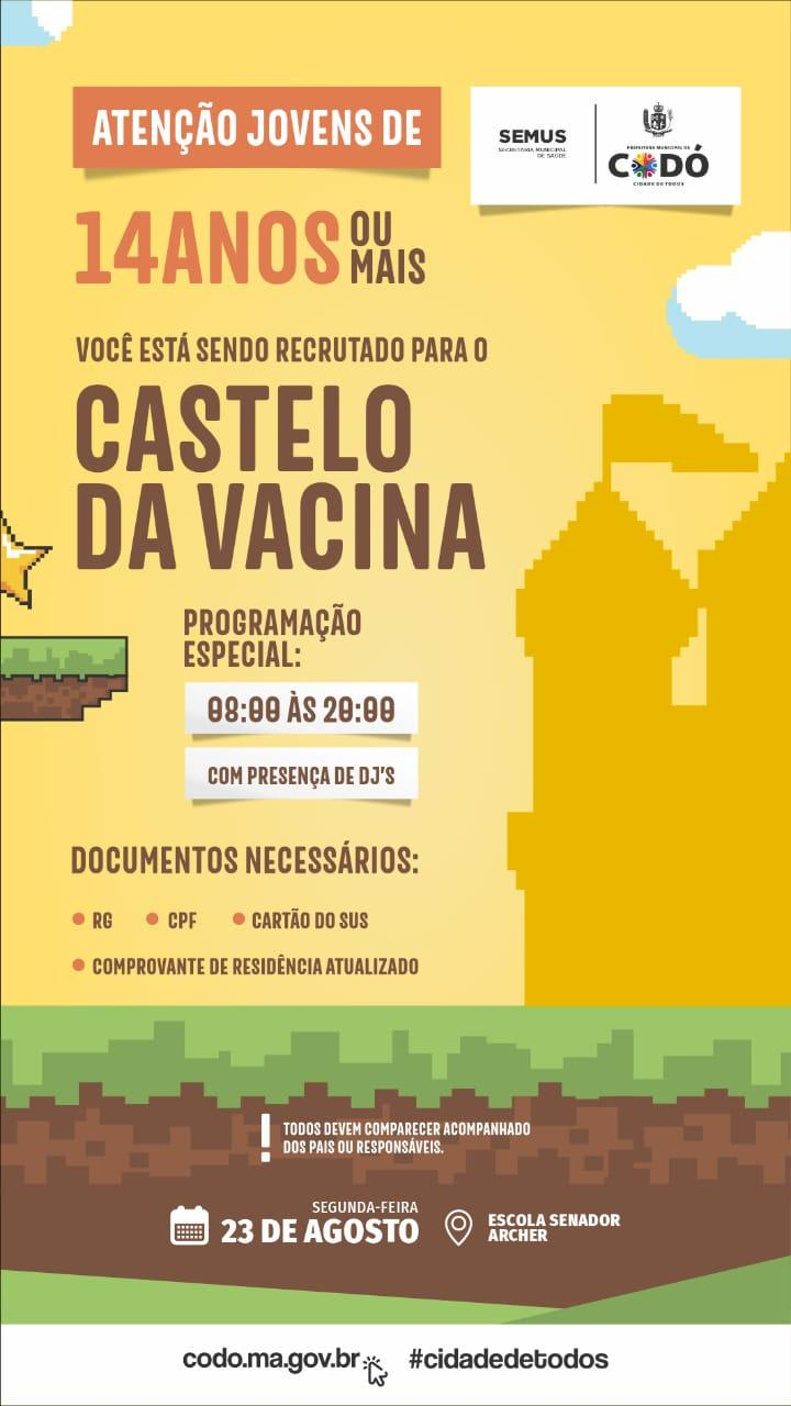 Prefeitura inicia vacinação de estudantes a partir dos 14 anos contra Covid-19 em Codó