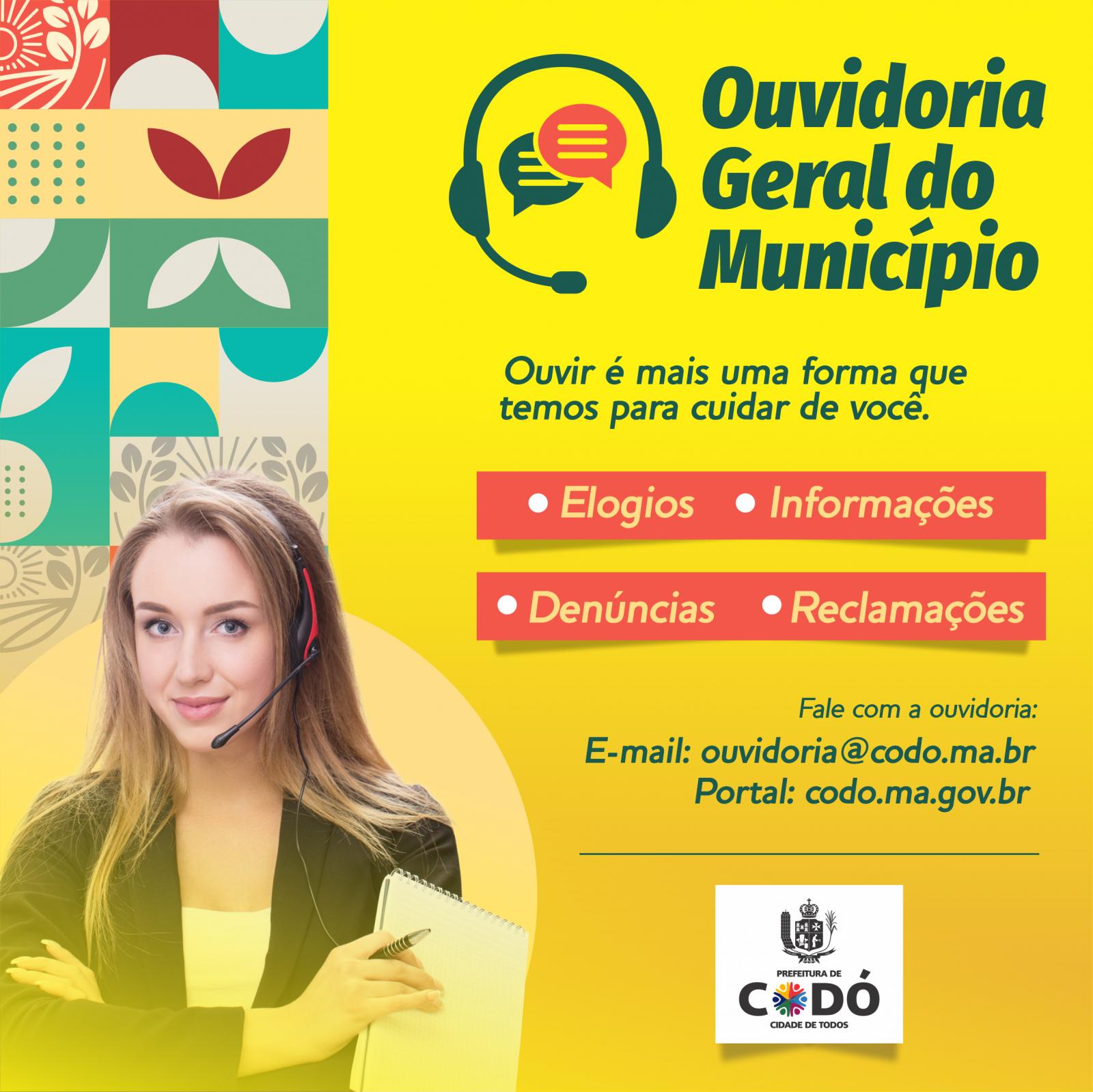 Fale com o Governo: A Prefeitura de Codó, possuí ouvidoria Municipal