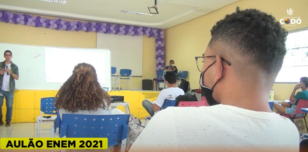 Aulão do ENEM promove mega revisão e garante aprendizagem para estudantes codoenses
