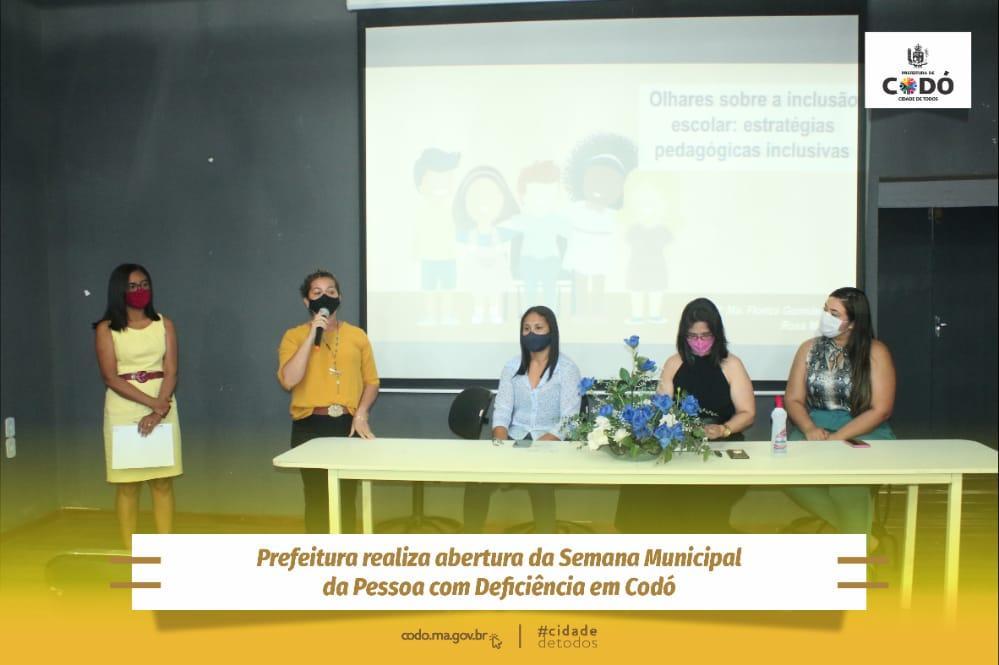 Prefeitura realiza abertura da Semana Municipal da Pessoa com Deficiência em Codó